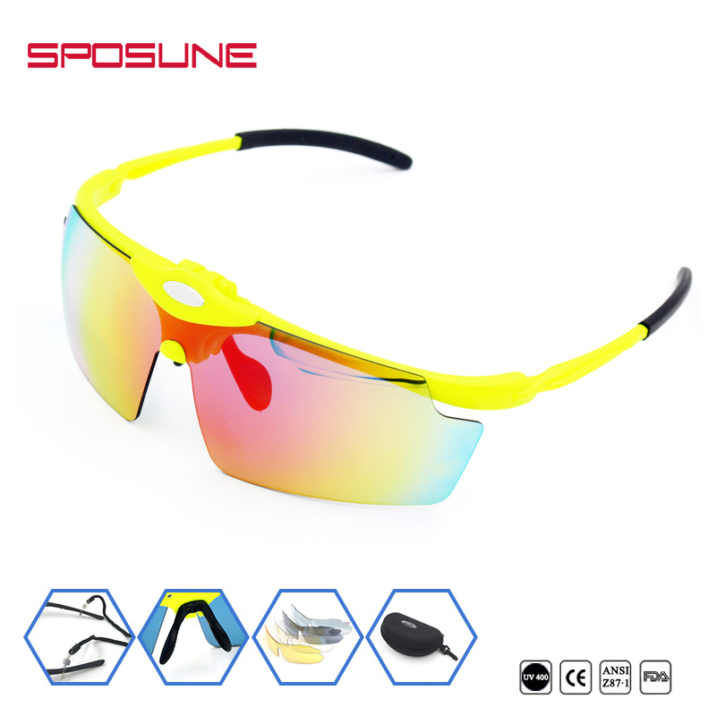 Highly Flexible Flip up Laser Safety Eye Glasses Reflective Polarized Unbreakable Interchangeable Lens Cycling Climbing Running Sunglasses