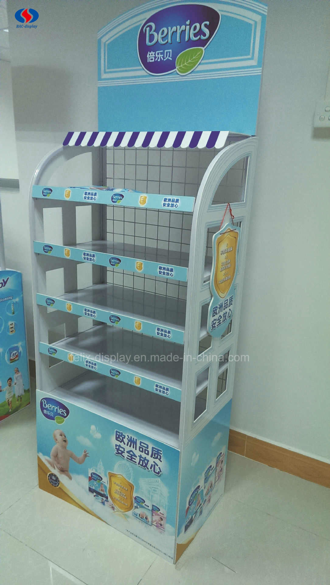 New Products China Manufacturer Baby Shop Display Rack/Baby Wipes ...