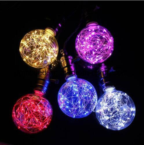 micro LED string lights 3W Edison Bulb LED Strip E27 G80 Creatives Sky Stars Starry String Light Filament Lamp Home Bar Decor Pendant Lighting 110-240V