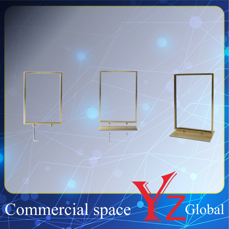 Poster Stand (YZ161506) Display Stand Sign Board Exhibition Stand Promotion Poster Frame Banner Stand Poster Board Store Stand Stainless Steel