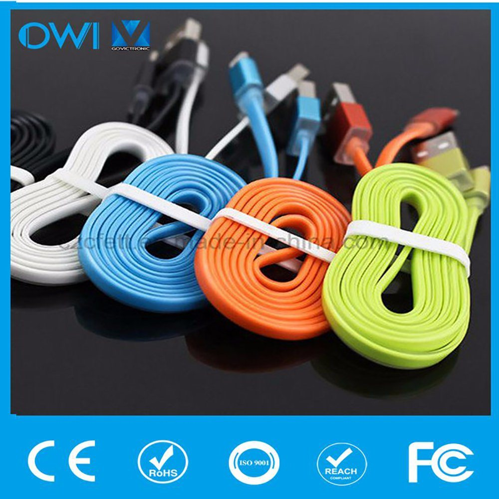 Colorful Charger&Transfer Data Flat for iPhone USB Cable