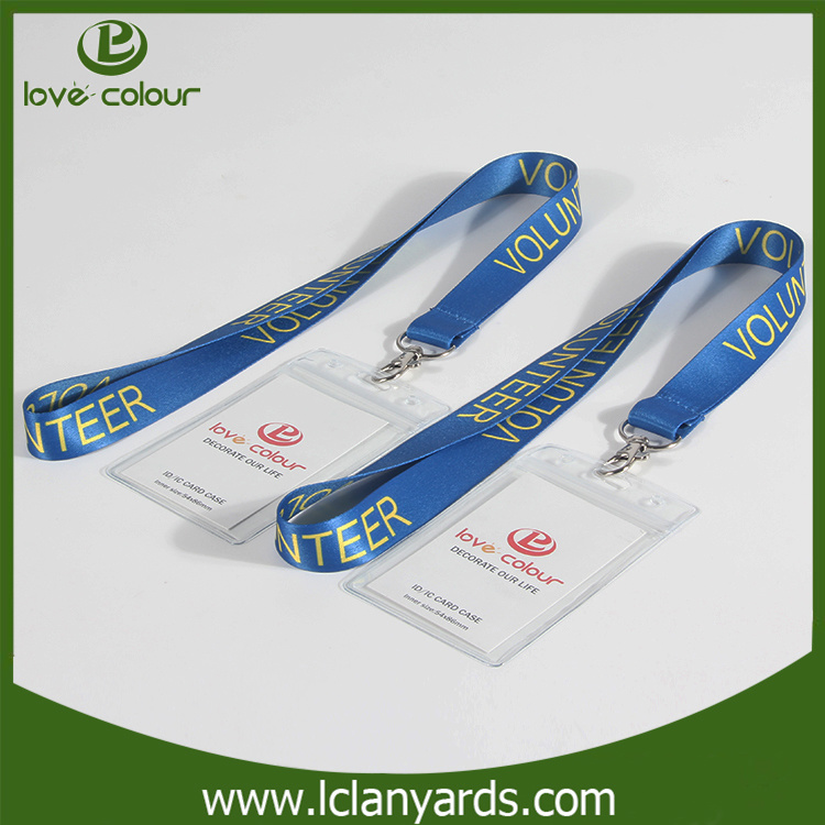 Wholesale Clear PVC Name ID Card Badge Holder with Lanyard