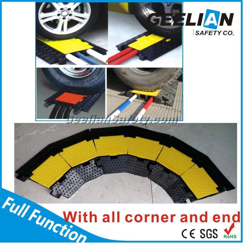 Yellow & Black Rubber 5 Channels Outdoor Cable Protector
