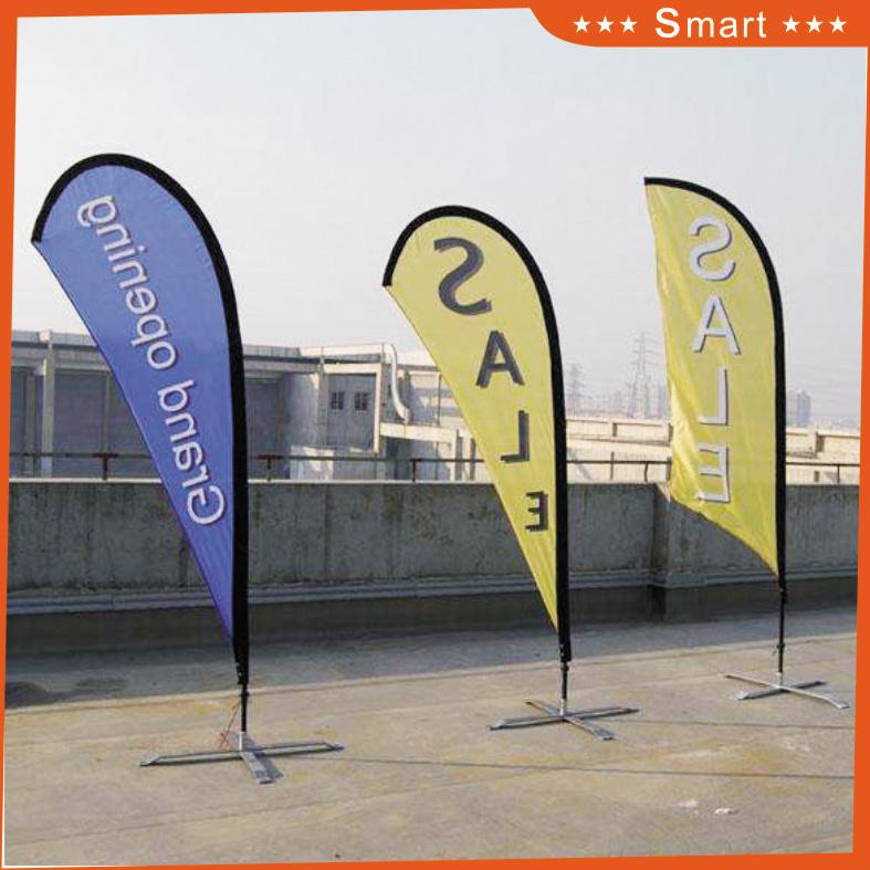 3PCS Custom Teardrop Feather Flag for Outdoor or Event Advertising or Sandbeach Model No.: Qz-010