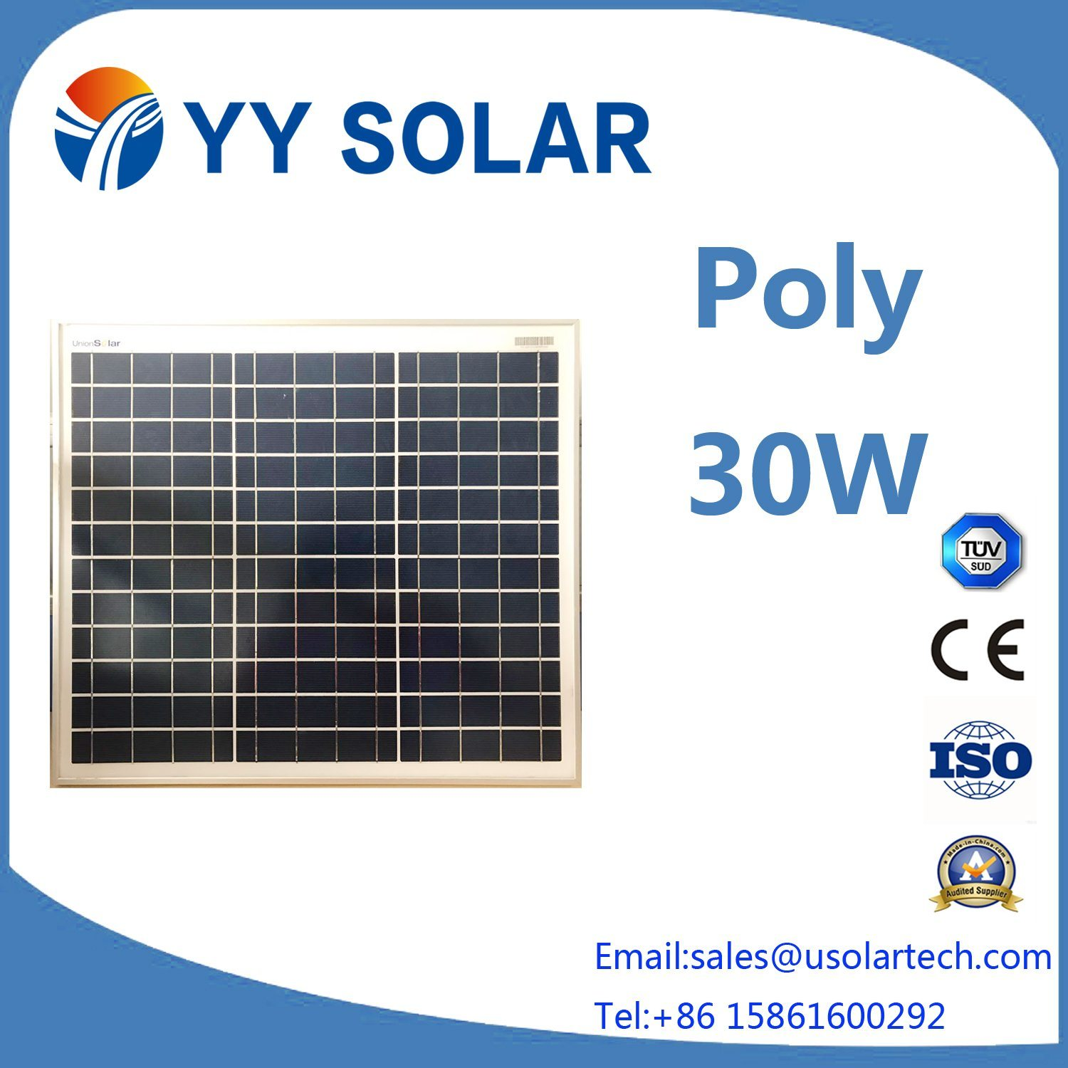 30W High Efficiency Solar Panel for Street Lighting