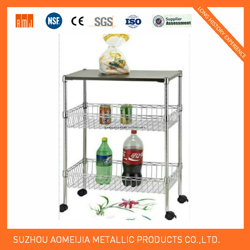 4 Tier Black Wire Rack Metal Storage Display Wire Shelf