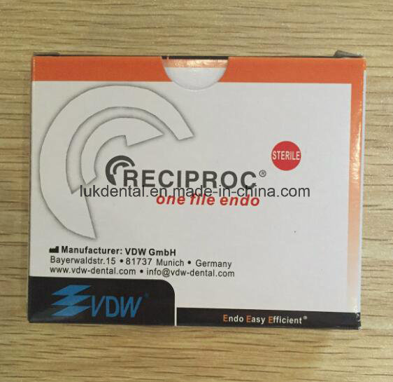 Manufacture a+ Quality Vdw Reciproc Dental Endodontic Files Ce Approved