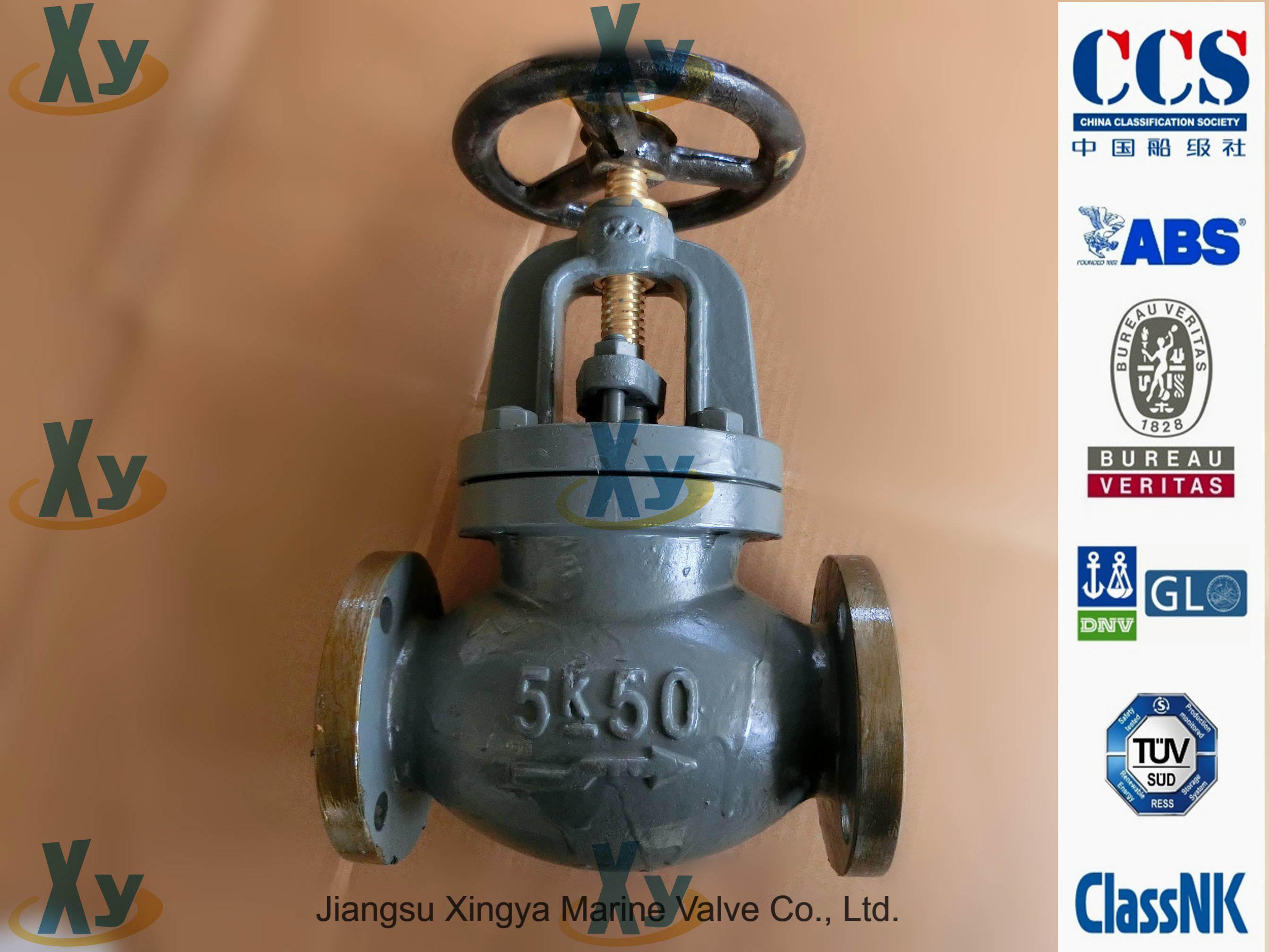 Marine Cast Iron Globe Valve JIS F7309 F7377 16k
