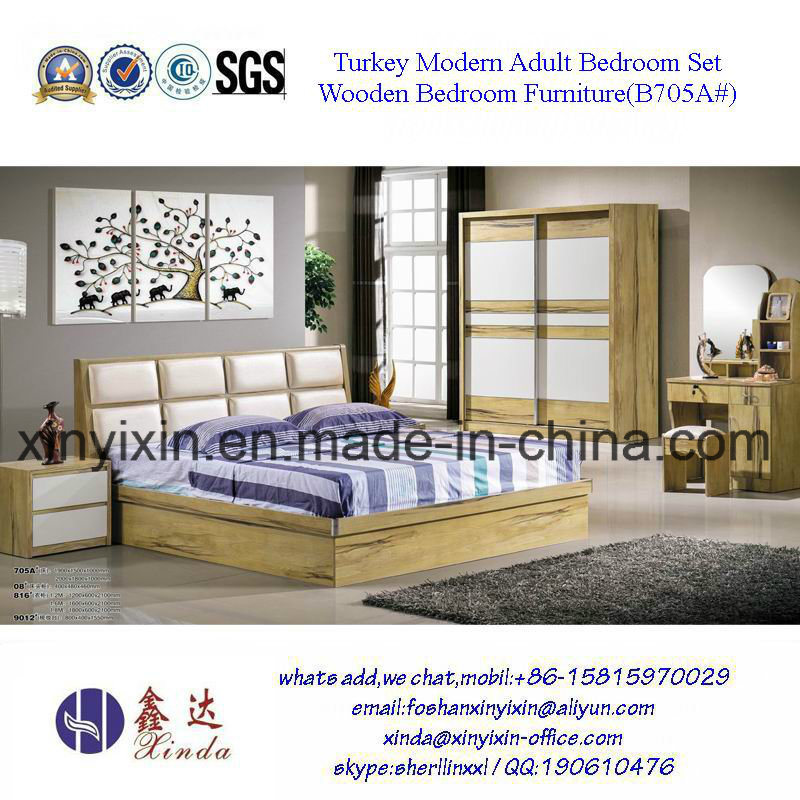Easy Assemble Bedroom Sets Furniture Wooden Bed (SH-003#)