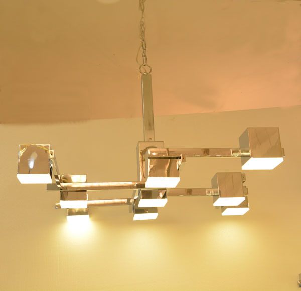 Modern Square Chrome LED Chandelier Pendant Lighting for Hotel