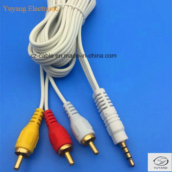 3RCA/3r Plug/Jack to Stereo Plug AV/DVD/TV/Audio/Media Cable (3R-stereo)