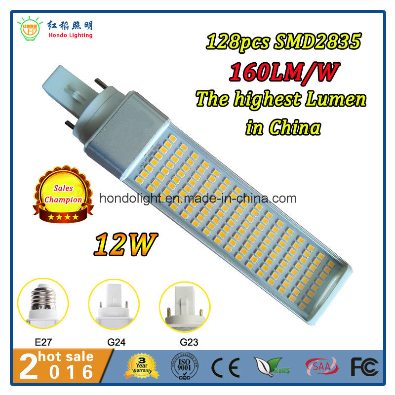 2016 Hot Sale 160lm/W 20W G24 LED Lamp with The Biggest Wattage and The Highest Lumen Output in The World