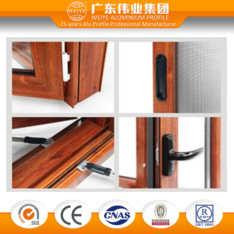 Wy-140gfd Insulation Aluminum Casement Integrated Window
