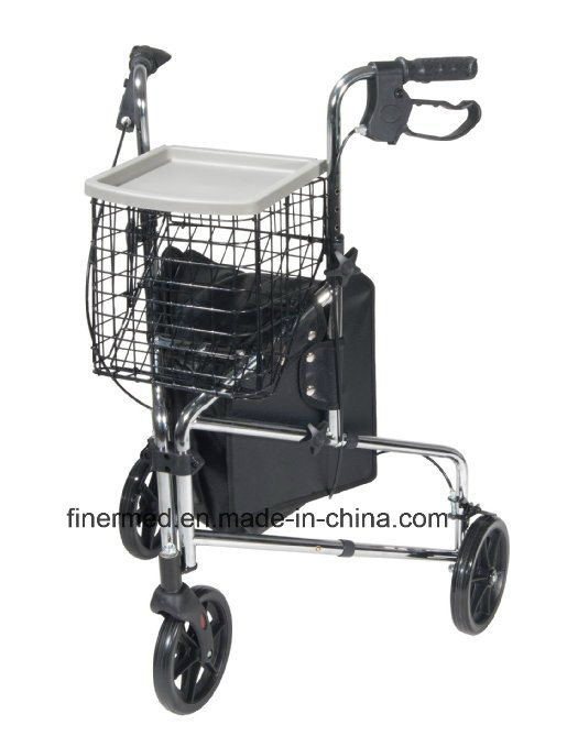4-Wheeled Foldable Steerable Knee Rollator