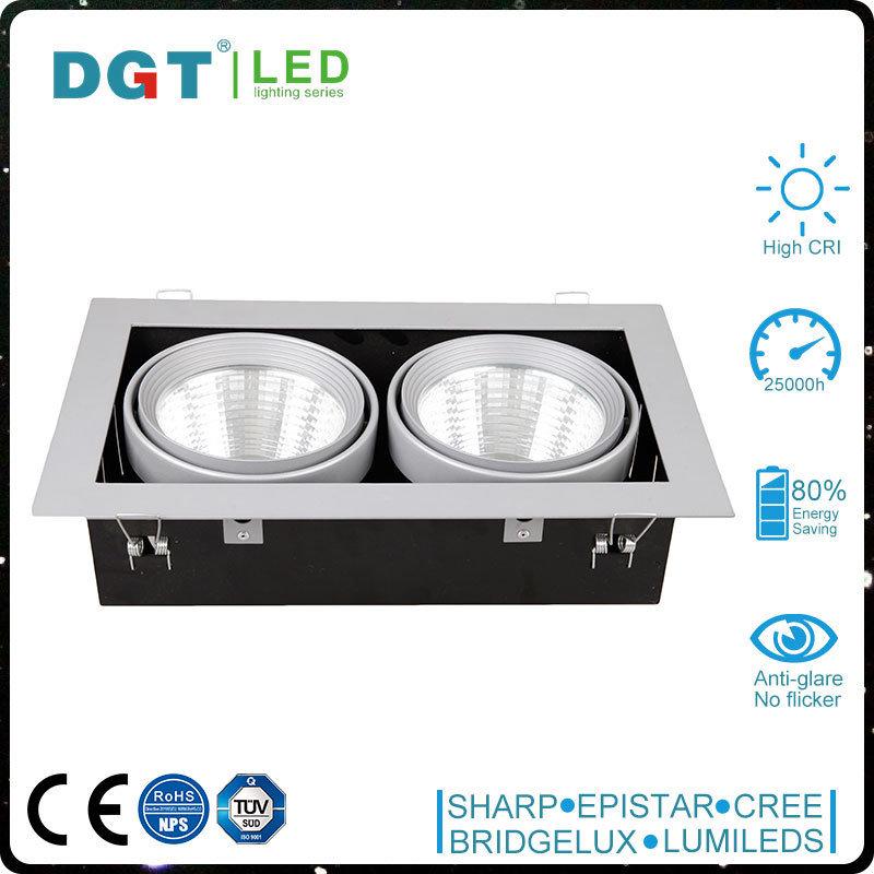 LED 2700k-5000k Aluminum 2*30W 4800lm LED Spotlight