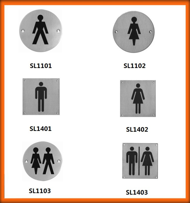 Hot Sales Toilet Sign Plate for Hotel Project
