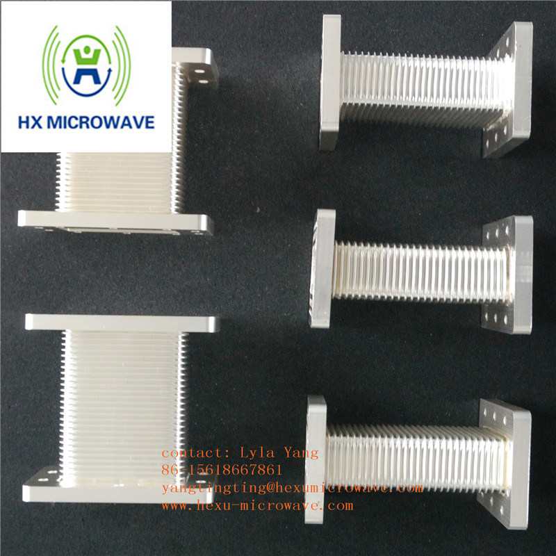 Hexu Microwave High Power Microwave Brass Flexible Seamless Waveguide