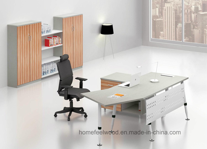 Modern Melamine Office Furniture Office Manager Table (HF-BSA04)