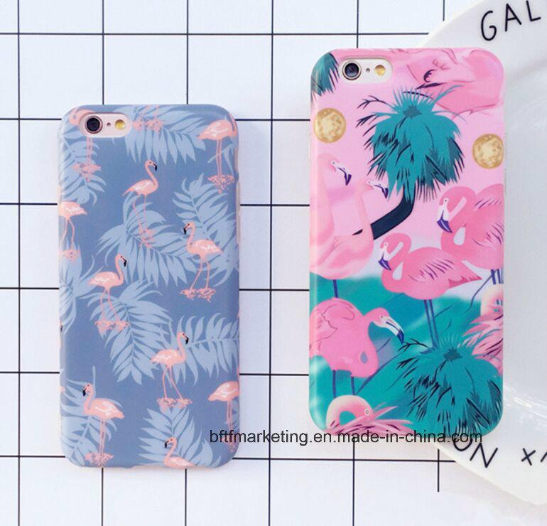 Soft TPU IMD Cartoon Flamingo Phone Case for iPhone 8/8plus7/7plus/6s/6splus