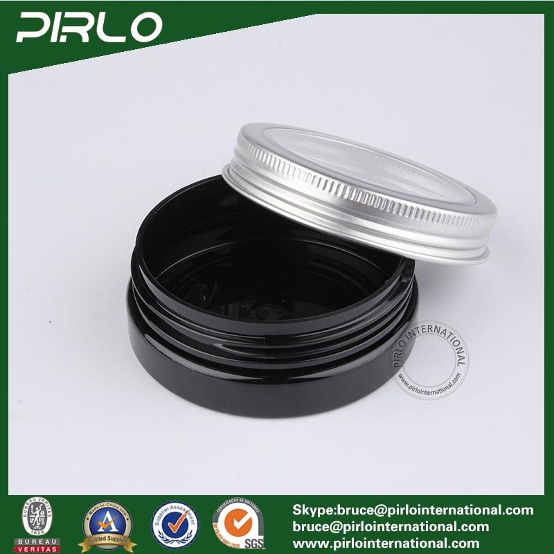 30ml Black Color Plastic Jar with Metal Cap Skin Care Cream Jar 30g Cosmetic Plastic Jar