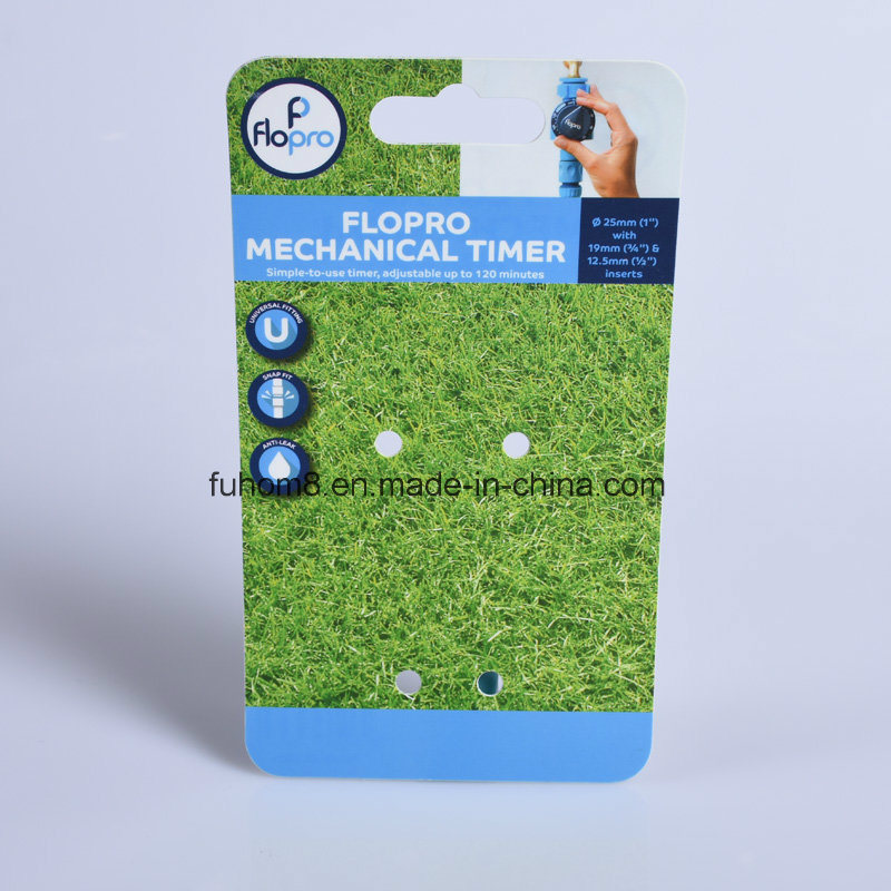 Customized Printed Hanging Plastic PP/PVC Header Card for Packaging