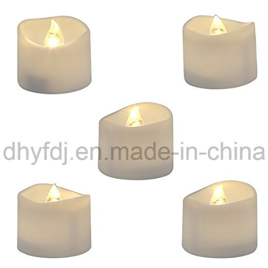 Real Wax & Real Flickering Flameless LED Tea Light Candles for Wedding & Parties