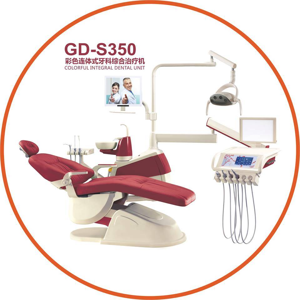 Ce & FDA Approved Gladent High Quality Colorful Dental Unit with LED Sensor Lamp