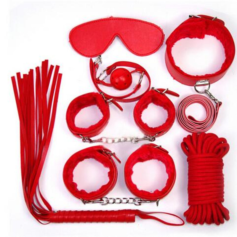 5 Set/Lot Sex Bondage Kit Set 7PCS Adult Sex Game Toy Bed Restraint System Sexy Product Fetish Erotic Sex Toy for Couple Toys
