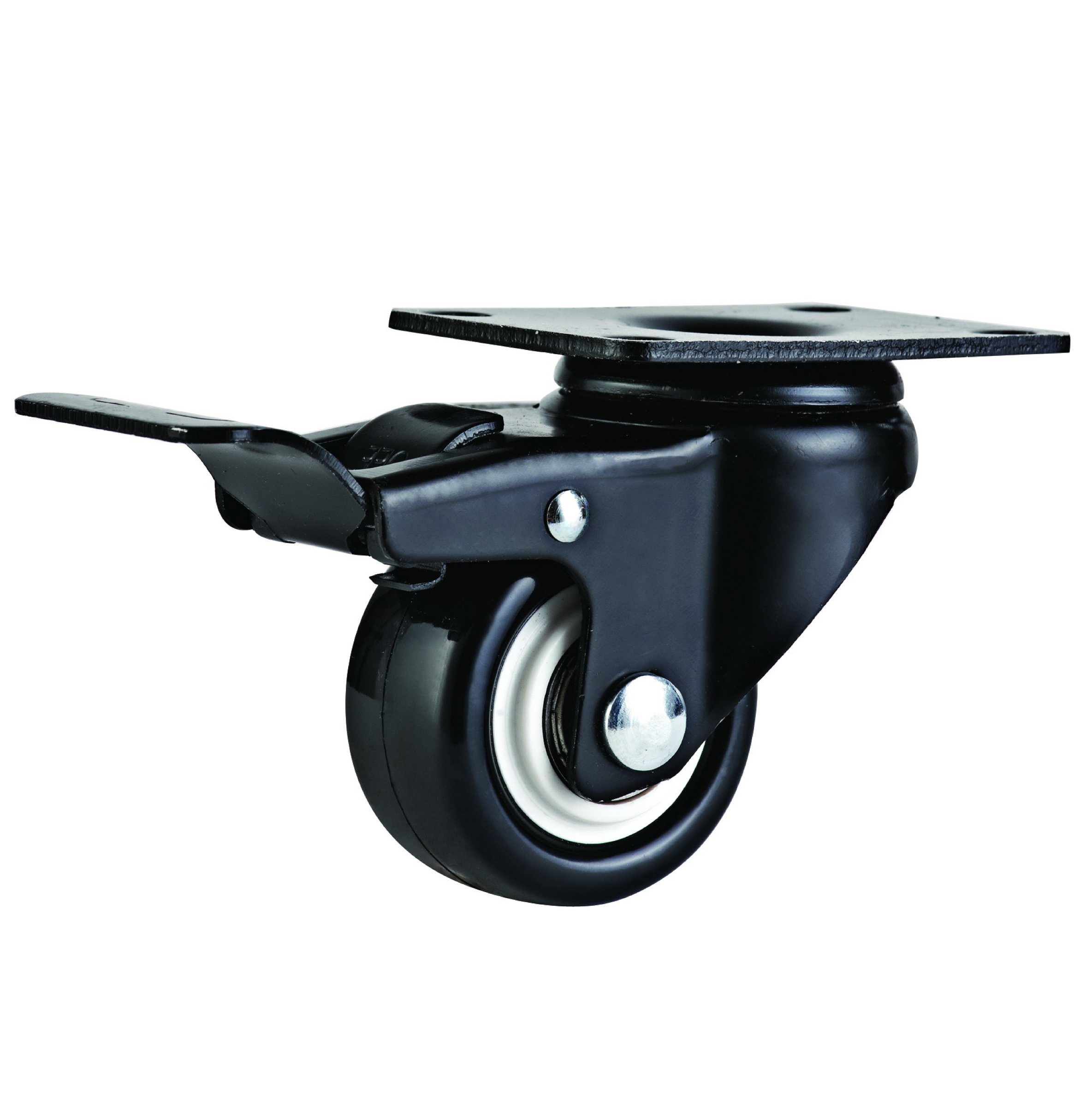 1.5-2.5 Inch Light Duty PVC Caster Wheel with E-Coating Bracket