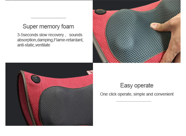 Bidirectional Kneading Portable Electric Massage Pillow