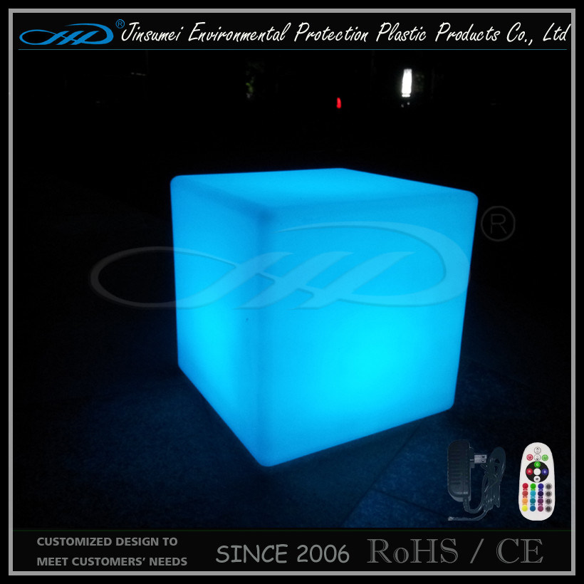 Remote Control Recharging Waterproof Outdoor Use Furniture RGB LED Cube