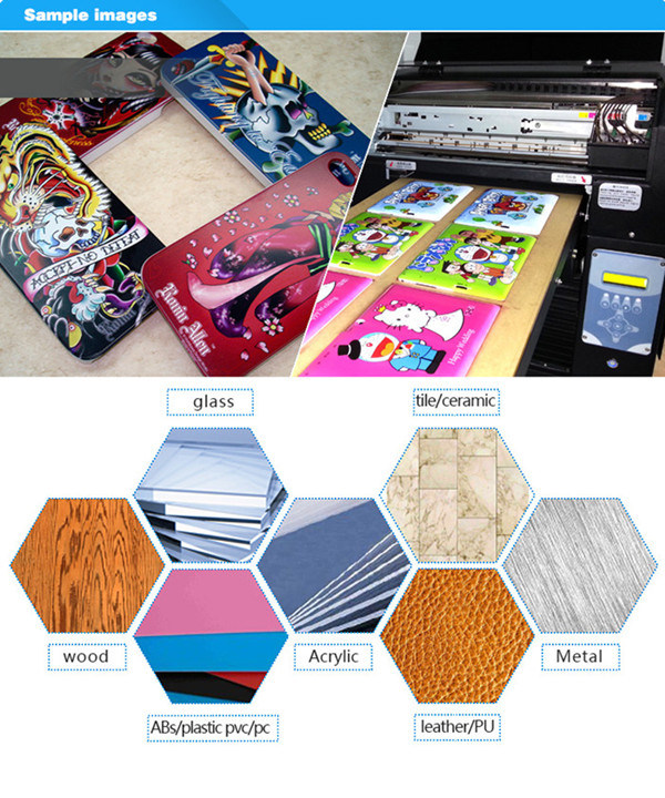 Digital Printer Type Small Format UV Flatbed Printer