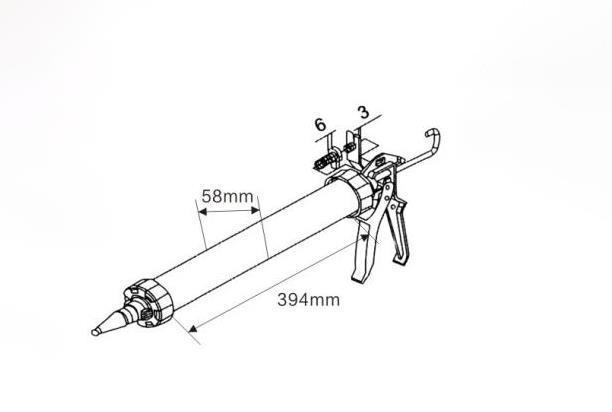 Heavy Duty Sausage Tube Caulking Gun Adhesive Tools