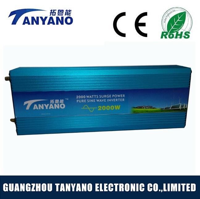High Efficiency 2000W 12V 220V off Grid Pure Sine Wave Power Inverter
