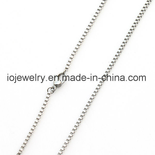 Box Chain Necklace Fashion Jewelry