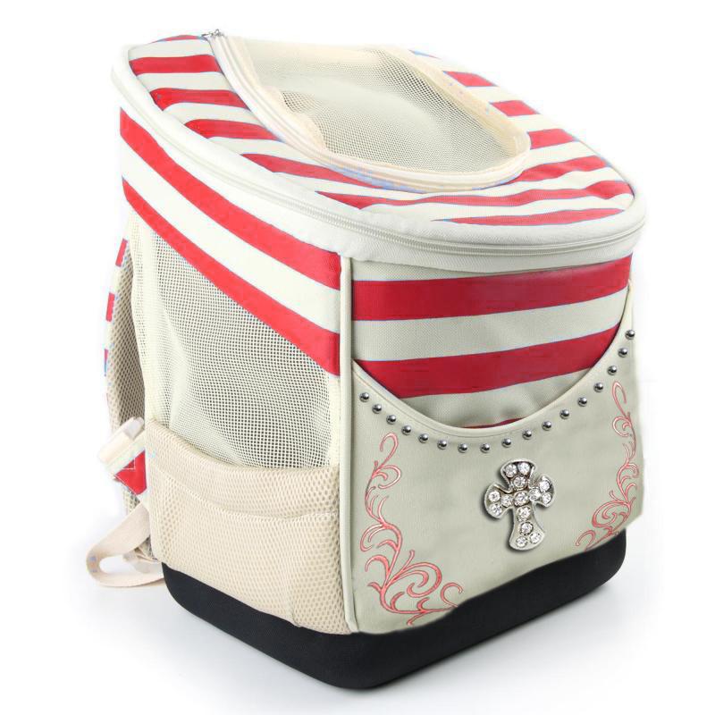 Leather Fashion Design Cat Dog Carrier Bag