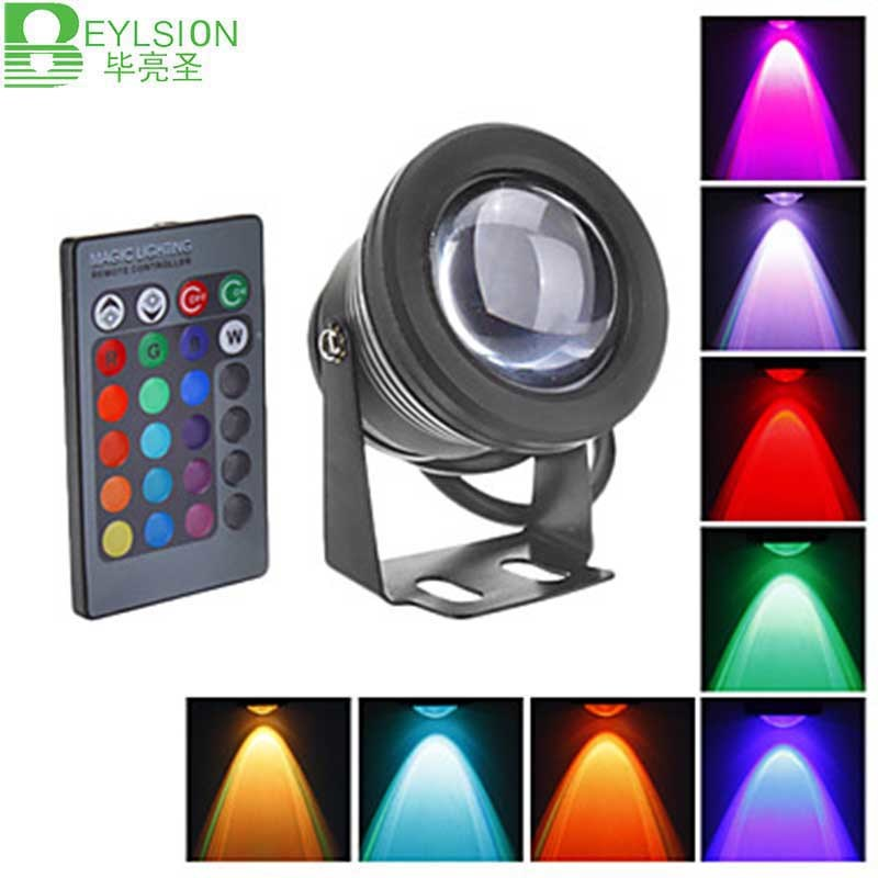 10W DC12V Underwater RGB Waterproof LED Flood Light