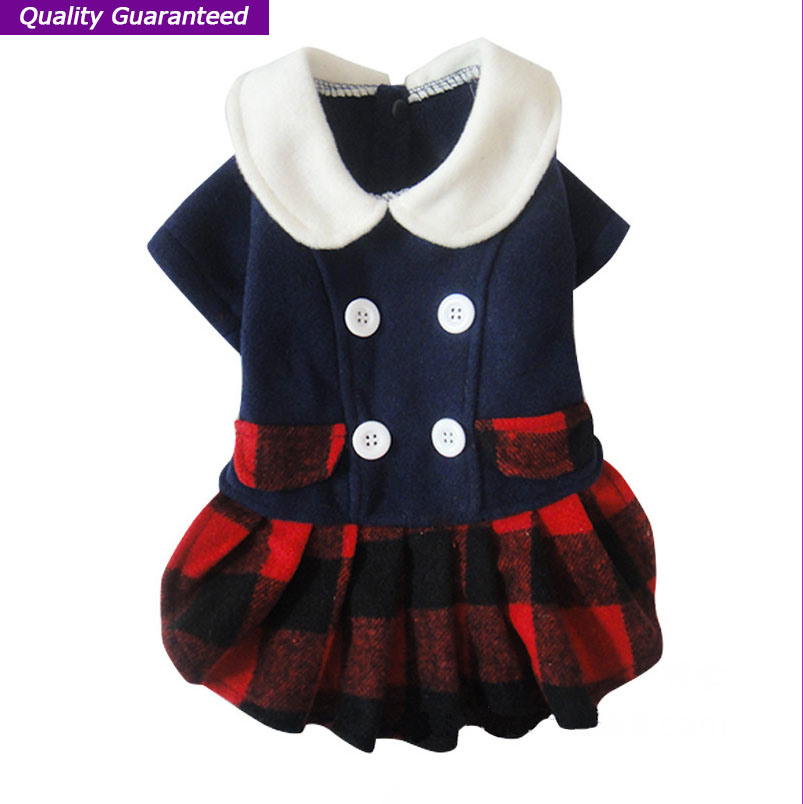 Wonderful English Styles Dog Clothes of Pet Dress