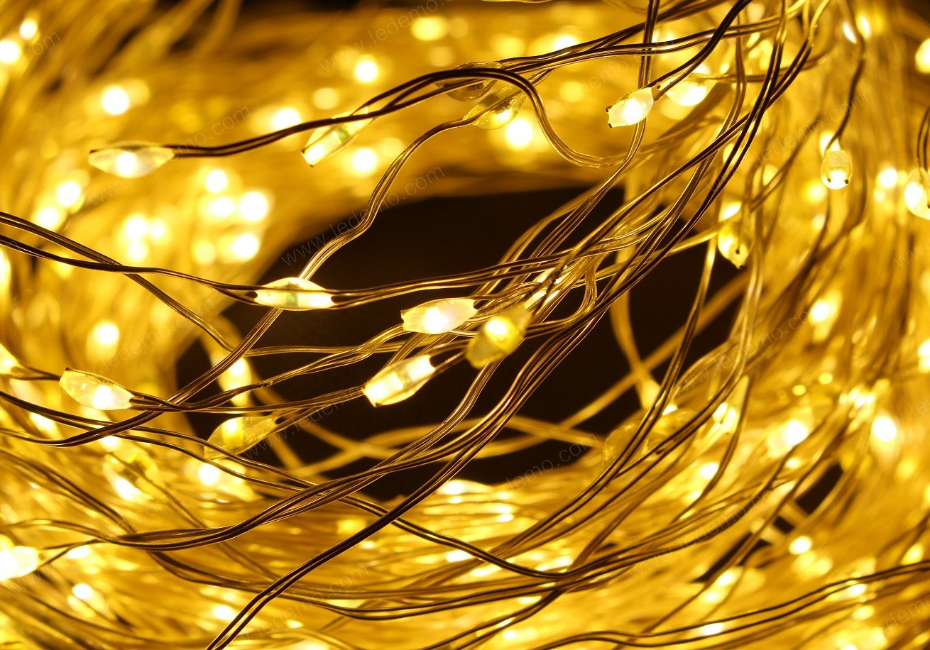 LED Curtain Copper Light 480LED for Decoration