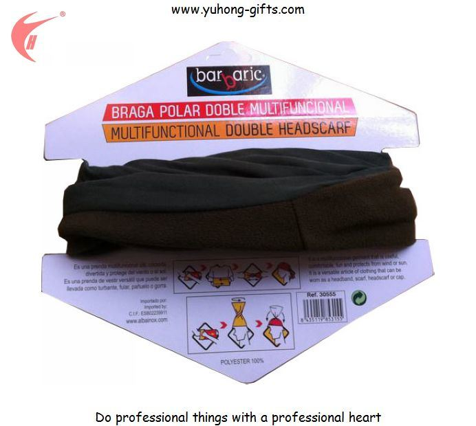 2015 Polar Fleece Multifunctional Bandana with Packing Card (YH-HS114)