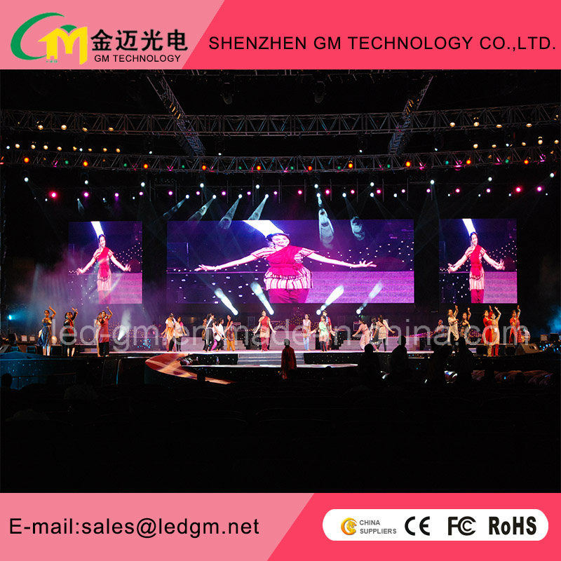 LED Video Wall, Ecran Multimedia, P3.91mm/P4.81mm/P5.68mm/P6.25mm Rental LED Display Screen