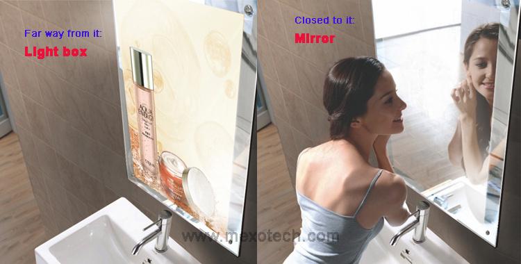 Magic Mirror with Sensor LED Light Box