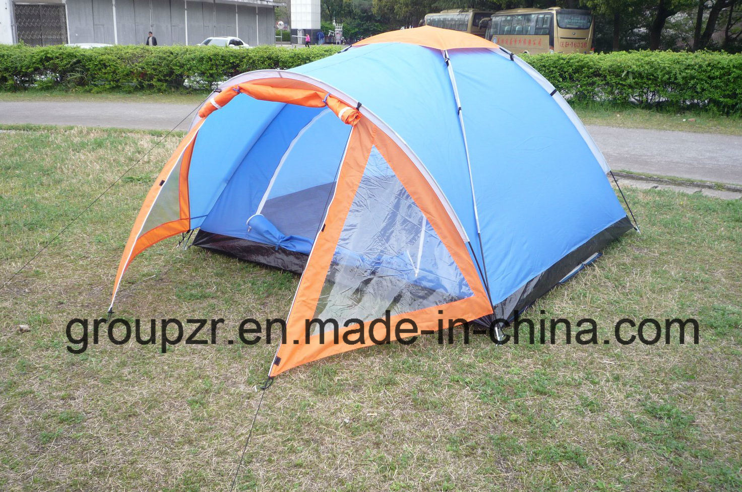 Outdoor Single Layer 3-4 Persons Camping Tent