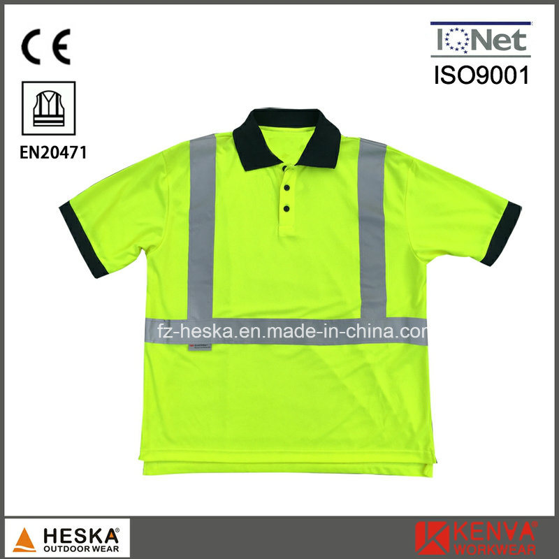Reflective Hi-VI Safety Traffic Clothing 3m Polo Shirt
