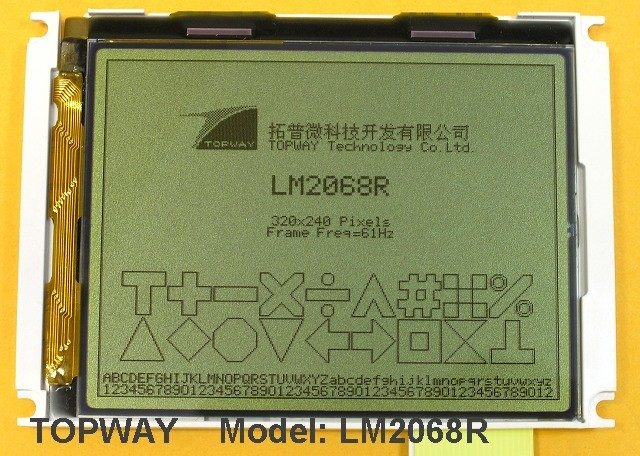 "320X240 3.8"" Graphic LCD Module Cog Type LCD Display (LM2068R)"