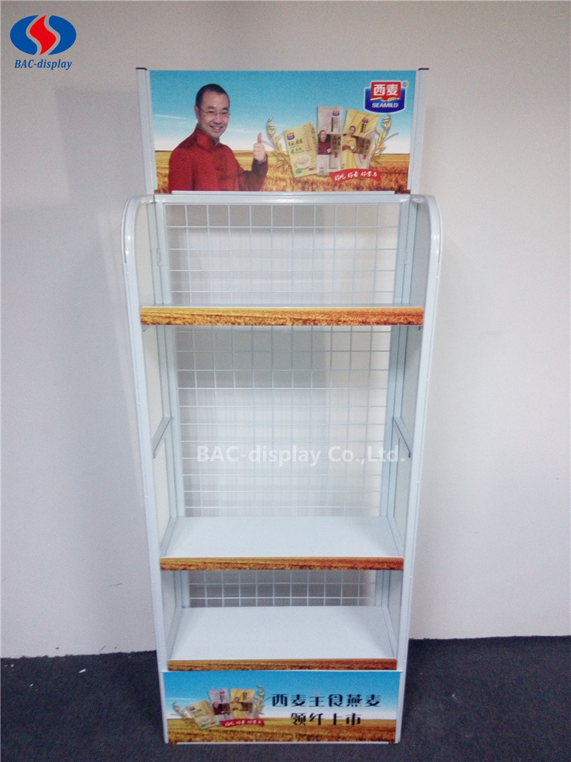 Supermarket Metal Promotion Noodle Display Rack