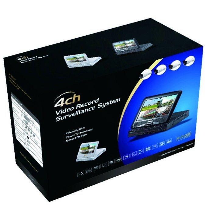 Outdoor Full HD 8CH 1080P Ahd CCTV Camera DVR Kit