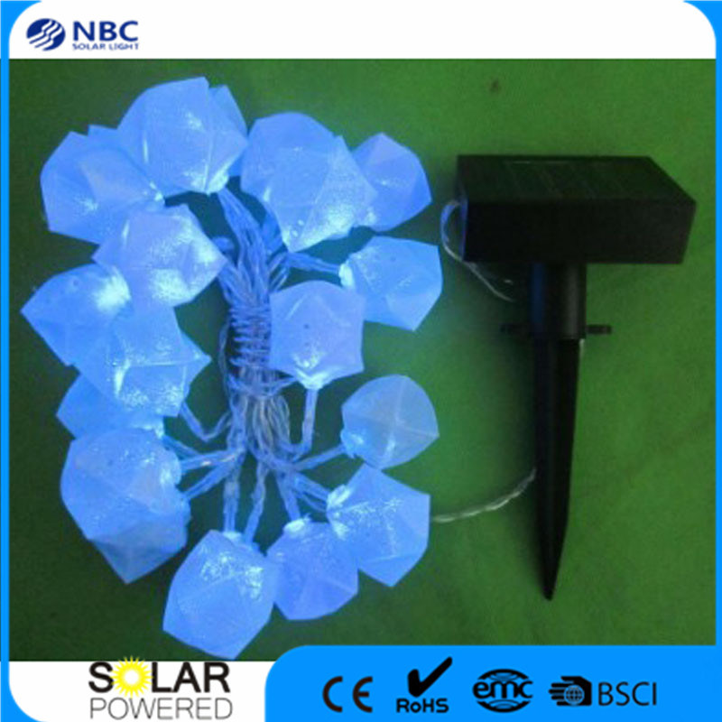 Plastic Material Poly-Silicon Solar Panel String Lighting