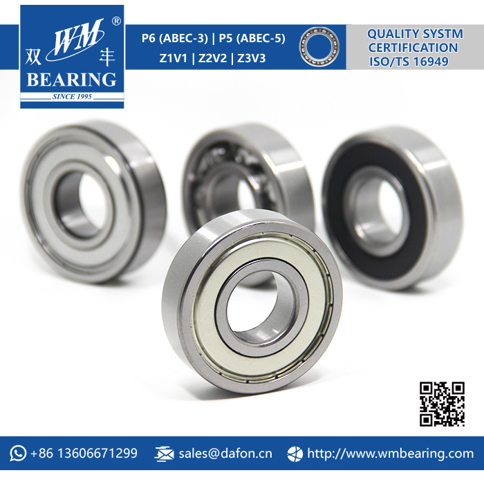 6306 Zz 2RS High Speed Spindle Radial Ball Bearing
