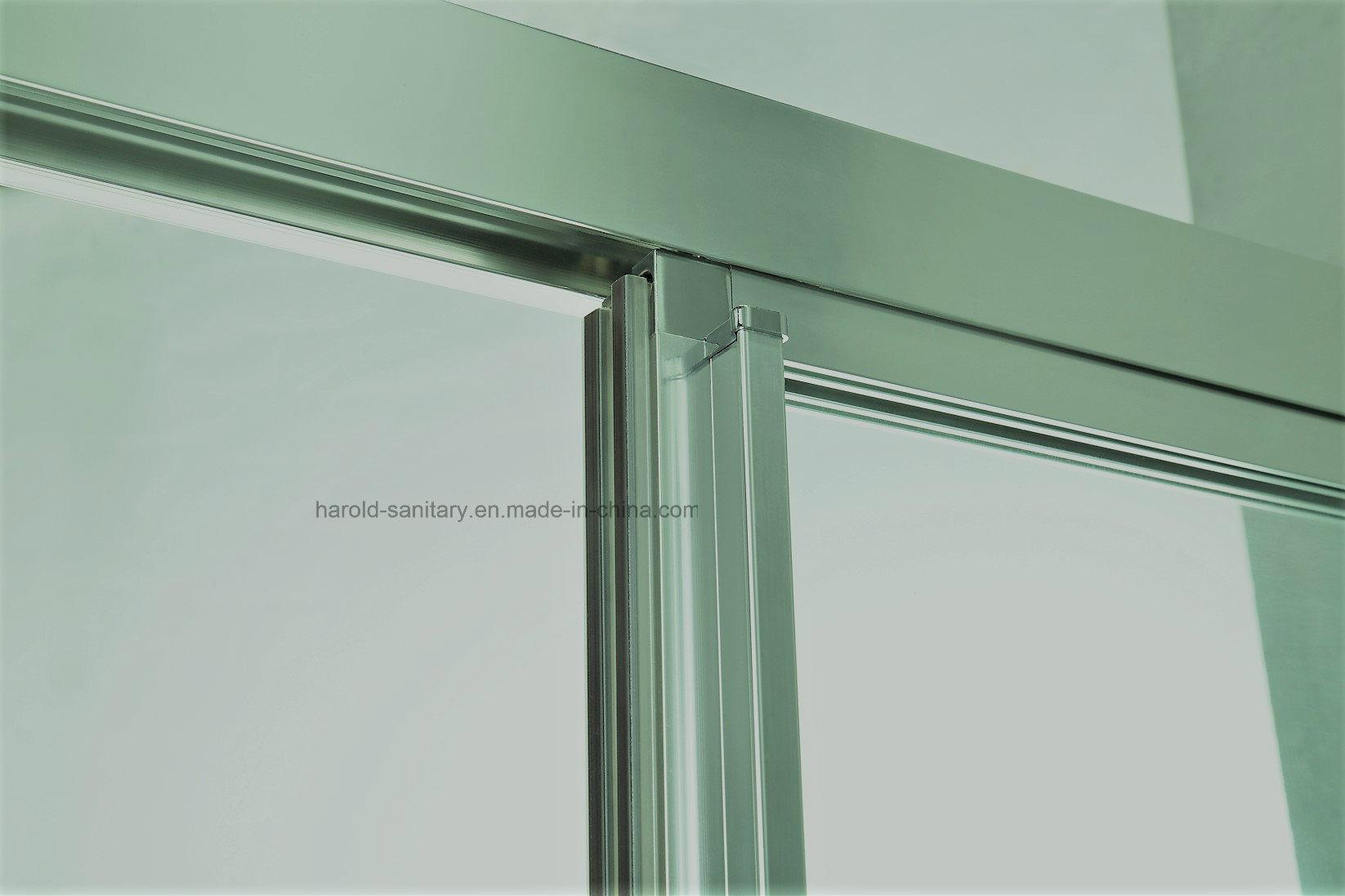 Hr-P035-D Aluminum Profile Handle Straight 2 Panels Shower Door